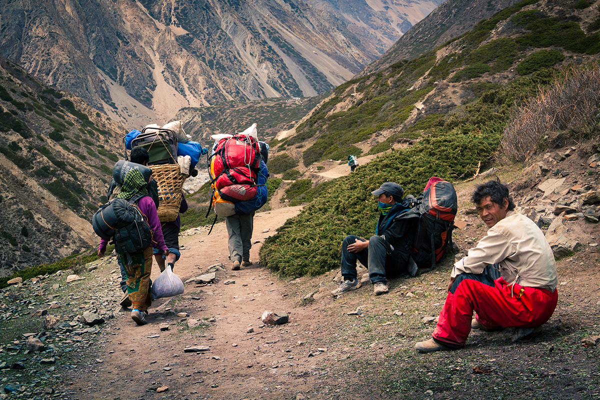 Nepalese Porters (Carriers)